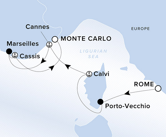 Voyage Itinerary Ritz Carlton Yacht Collection