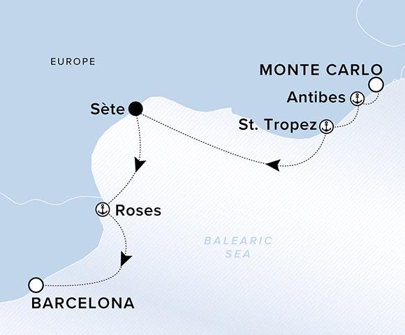 Monte Carlo To Barcelona Itinerary